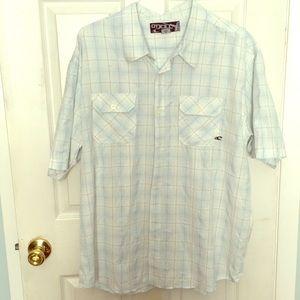 Men's button down shirt sleeve shirt